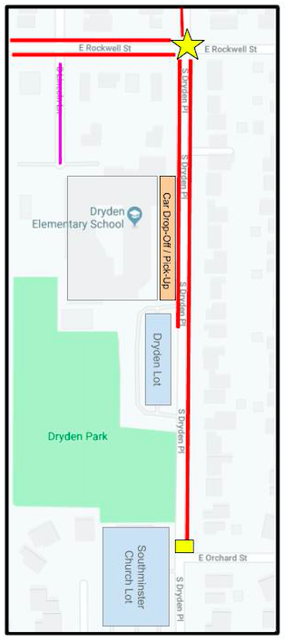 Dryden's traffic patter map. Click to download.