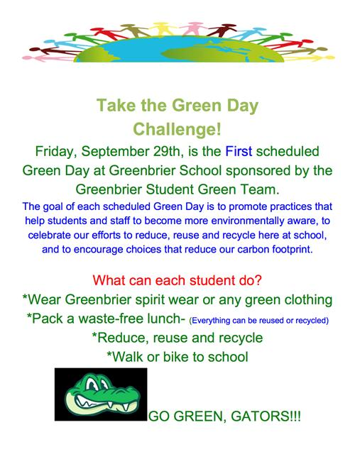 Green day Challenge