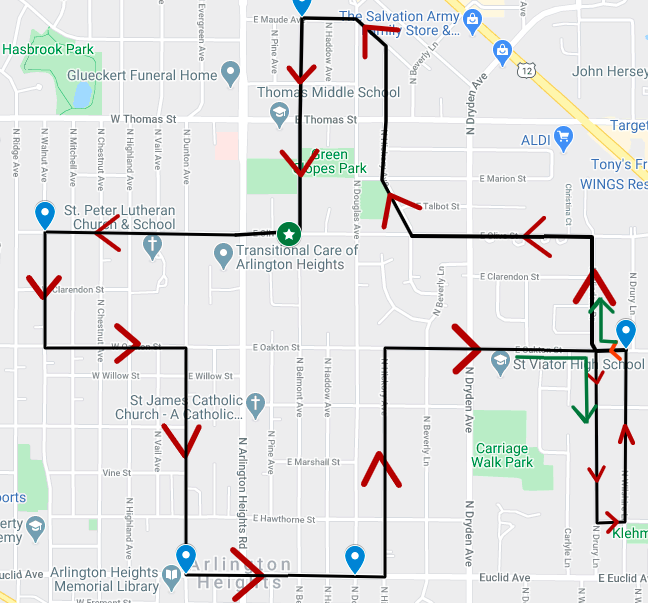 Updated Parade Route