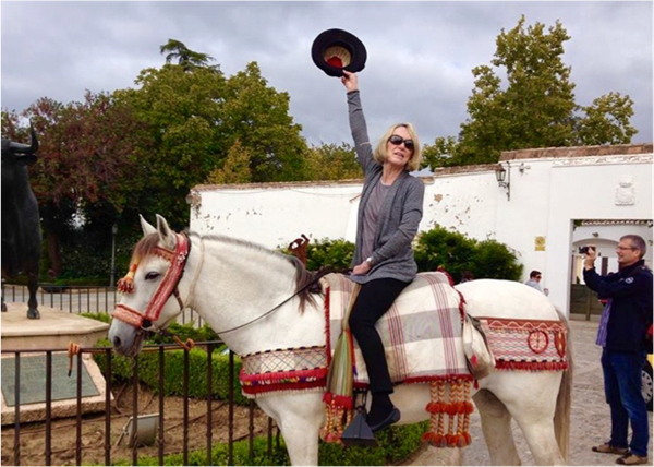 Kathleen Brodnan rode off into the sunset, literally.