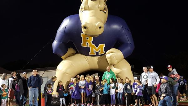 Westgate Wolverines Rush the Field at Rolling Meadows