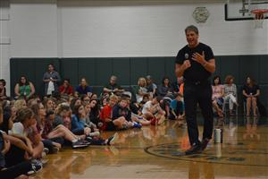 Tim Green spent a few days at SD25 schools to speak and inspire the students.