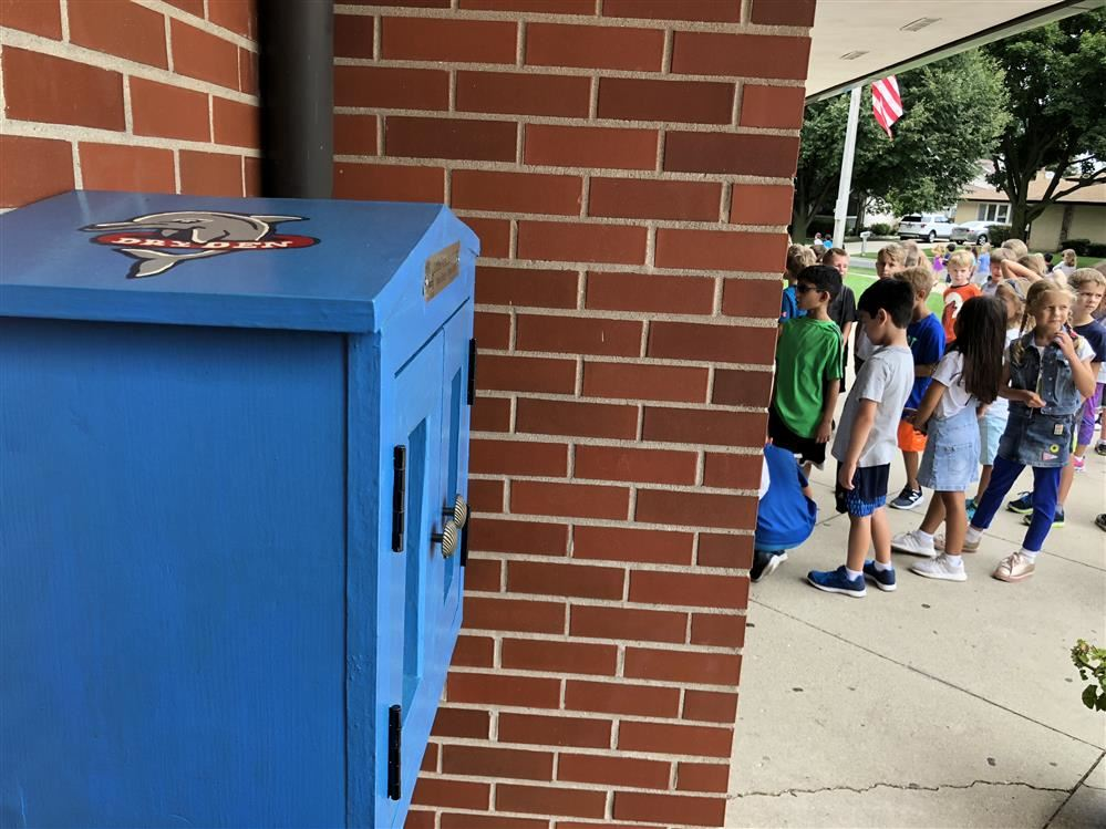 Dryden gets a 'Little Free Library' from some familiar faces