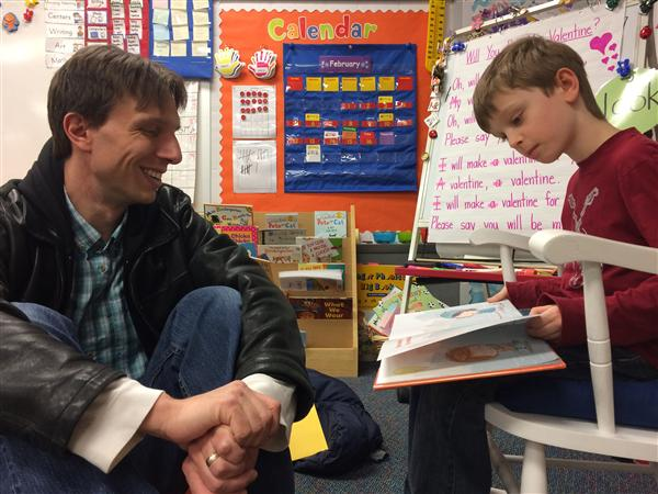 Patton roars all day for World Read Aloud Day