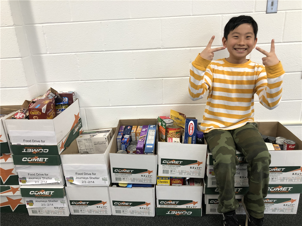 This student's 5th grade project inspired his community to give, give, and give.