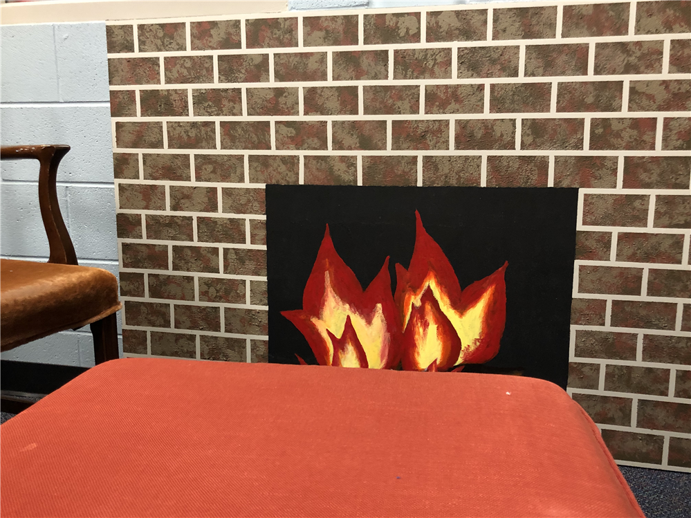 South's new fireplace