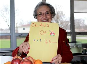 Judy Otis kept projects from each of her classes throughout her teaching career.
