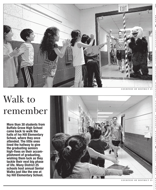 This is a Daily Herald article highlighting the Senior Walk at Ivy.