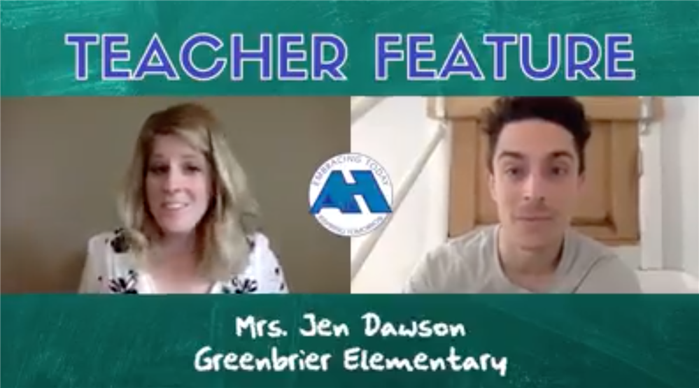 TEACHER FEATURE | Mrs. Jen Dawson gets her 1st graders to connect virtually through books.
