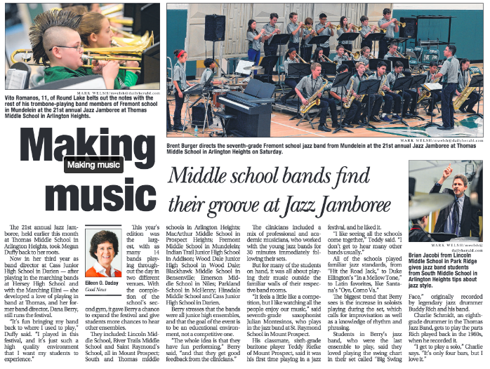 TMS makes the front page in the Herald's Neighbor section.