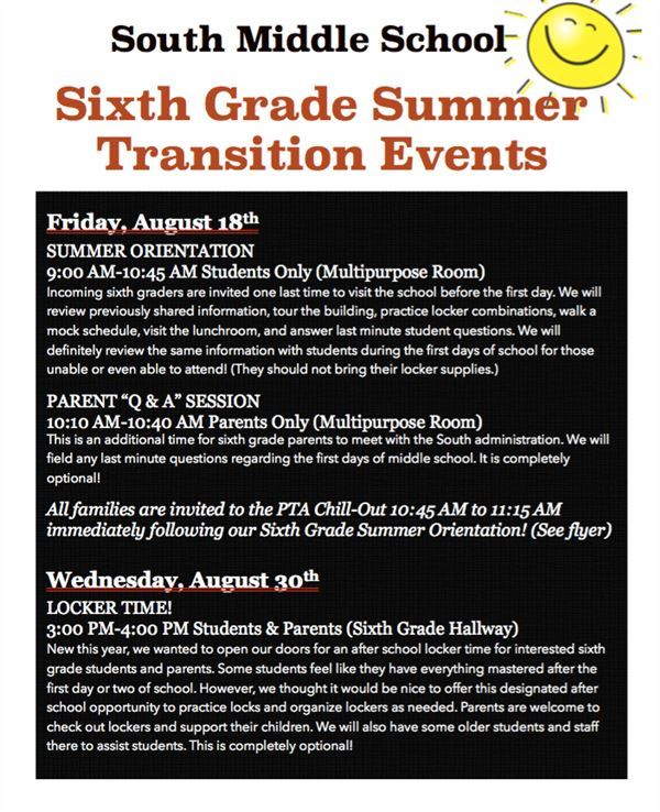 SMS Transition Events