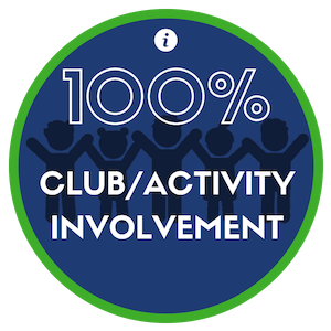 Our students get involved and stay involved through many different clubs, activities and events.