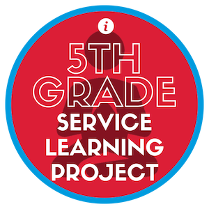 The 5th grade service project has quite an impact on our students and our community. Our 5th grade leaders identify and plan a service project each year and are responsible for coordinating every aspect of it. Click here to watch a video that highlights just one example of a 5th grade service learning project from 2019.