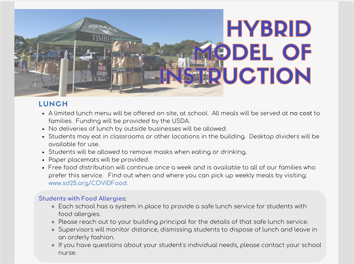 Hybrid Model of Instruction | Lunch